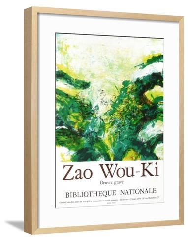 Expo 79 - Bibliothèque Nationale-Zao Wou-Ki-Framed Art Print