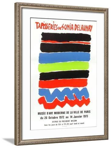 Expo 73 - Mus?e d'Art Moderne Tapisseries-Sonia Delaunay-Terk-Framed Art Print