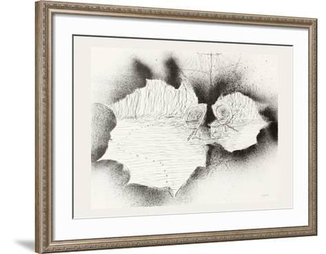 Lied à Emile Nelligan 6-Jean-Paul Riopelle-Framed Art Print