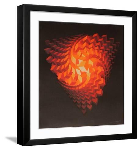 Composition abstraite-Jean Allemand-Framed Art Print