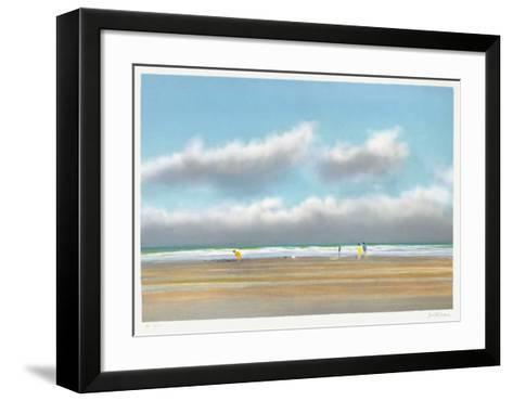 Plage du Miramar ? Biarritz-Pierre Doutreleau-Framed Art Print