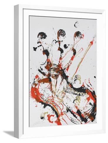 Melody for strings I-Fernandez Arman-Framed Art Print
