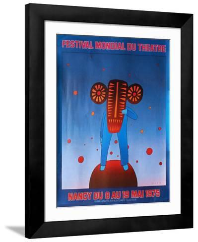 Festival du th??tre Nancy 1975-Jean Michel Folon-Framed Art Print