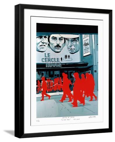 Boulevard des Italiens : le Cercle Rouge-G?rard Fromanger-Framed Art Print