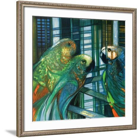 Les perroquets-Camille Hilaire-Framed Art Print