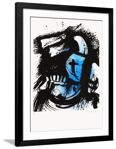 Cavalier bleu-John Christoforou-Framed Art Print