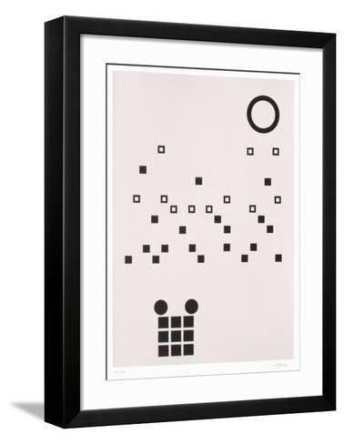 Composition abstraite-Jean Leppien-Framed Art Print