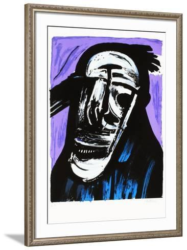 Portrait ?clat? V-John Christoforou-Framed Art Print