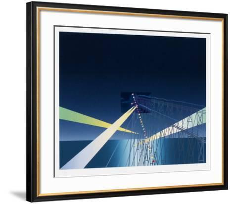 Je vous ?cris de Coney Island-Jean Michel Folon-Framed Art Print