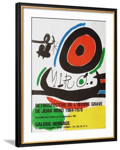 Expo 81 - Galerie Herbage-Joan Mir?-Framed Art Print