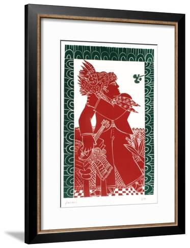 L'oiseau rouge-Alexandre Fassianos-Framed Art Print