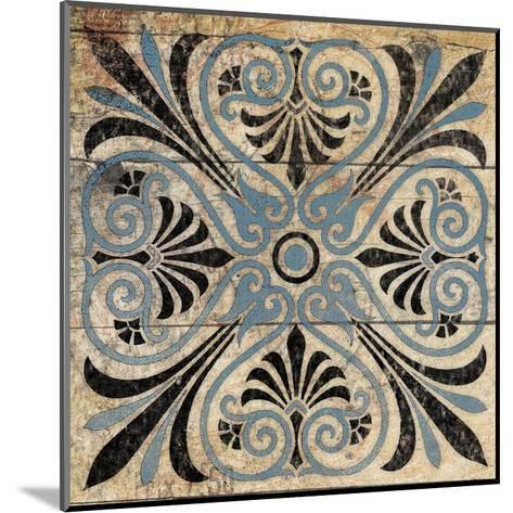 Blue Pattern 5-Jace Grey-Mounted Art Print