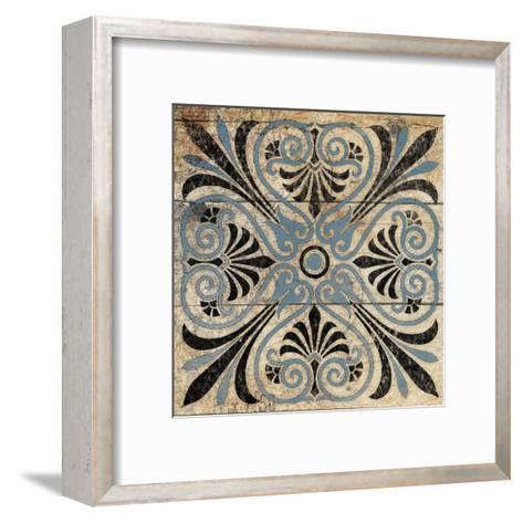 Blue Pattern 5-Jace Grey-Framed Art Print