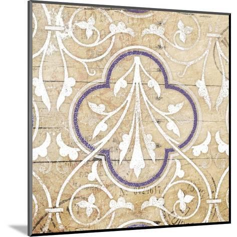 Purple Pattern 7-Jace Grey-Mounted Art Print