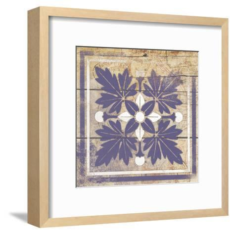 Purple Pattern 8-Jace Grey-Framed Art Print