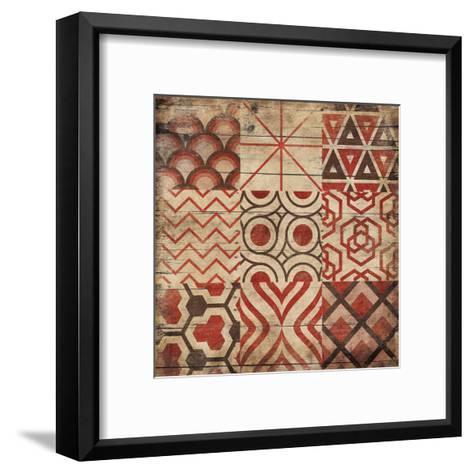 Geo Patch-Jace Grey-Framed Art Print