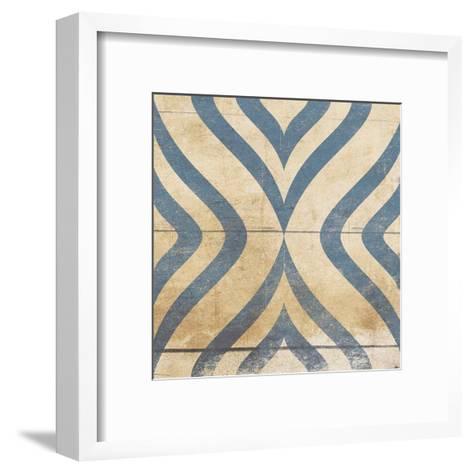 Blue Geo 8-Jace Grey-Framed Art Print