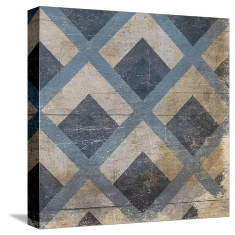 Blue Geo 9-Jace Grey-Stretched Canvas Print