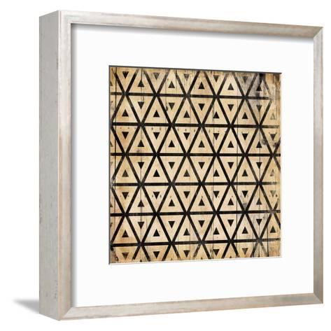 Triangle Pattern-Jace Grey-Framed Art Print