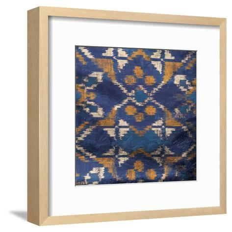 Blue IKAT-Jace Grey-Framed Art Print