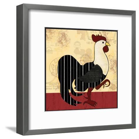 A Horizontal Rooster-Lauren Gibbons-Framed Art Print