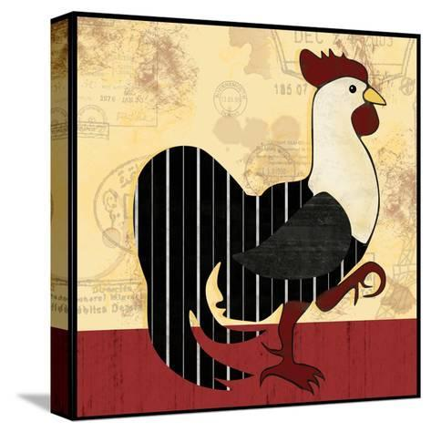 A Horizontal Rooster-Lauren Gibbons-Stretched Canvas Print