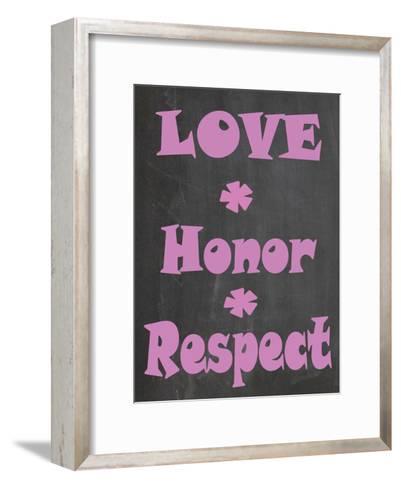 Love Honor Respect-Jean Olivia-Framed Art Print