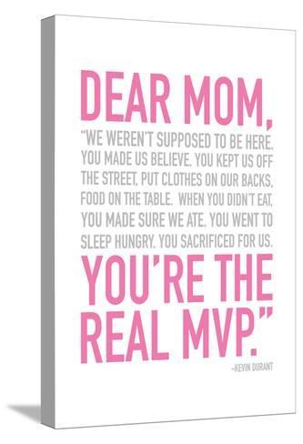 Mom Real MVP-Jace Grey-Stretched Canvas Print