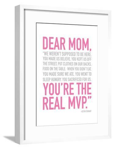 Mom Real MVP-Jace Grey-Framed Art Print