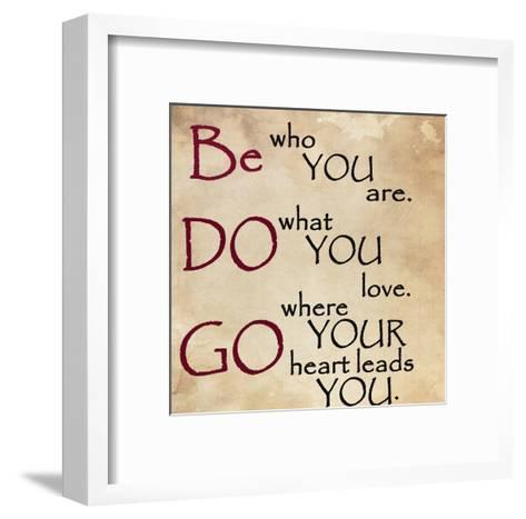 Be Do and Go-Jean Olivia-Framed Art Print