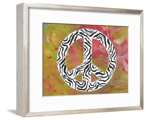 Safari Peace Zebra-Beverly Dyer-Framed Art Print