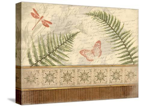 Spice Ferns-Jace Grey-Stretched Canvas Print