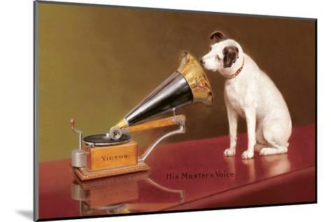 His Master's Voice Ad--Mounted Art Print