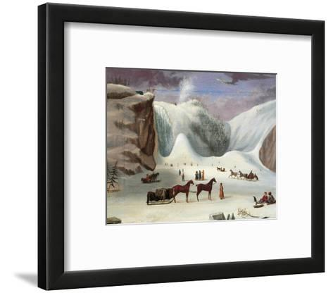 Ice Cone, Montmorency Falls-Robert Clow Todd-Framed Art Print