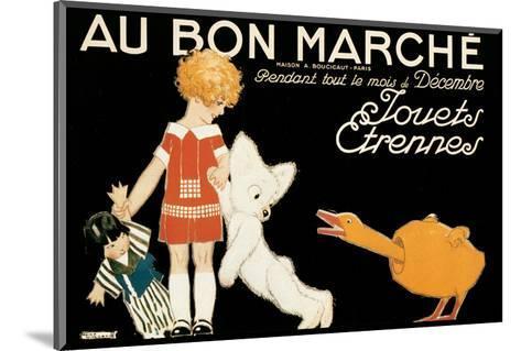 Au Bon Marche, Jouets et Etrennes-Ren? Vincent-Mounted Art Print