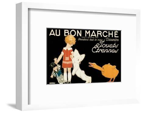 Au Bon Marche, Jouets et Etrennes-Ren? Vincent-Framed Art Print