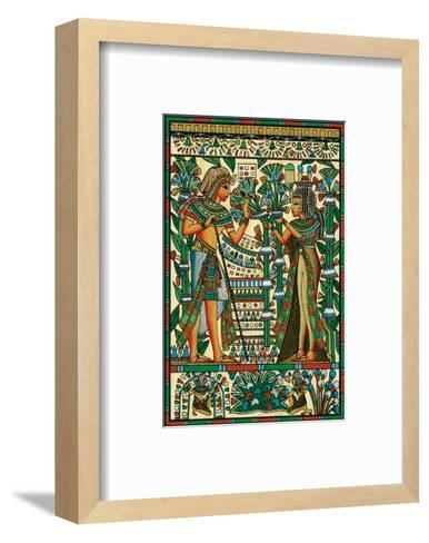 Tutankhamun and Ankhesenamun--Framed Art Print