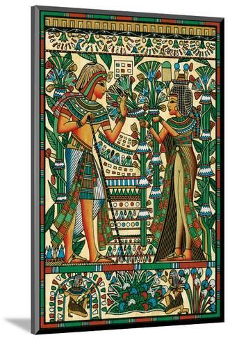 Tutankhamun and Ankhesenamun--Mounted Art Print