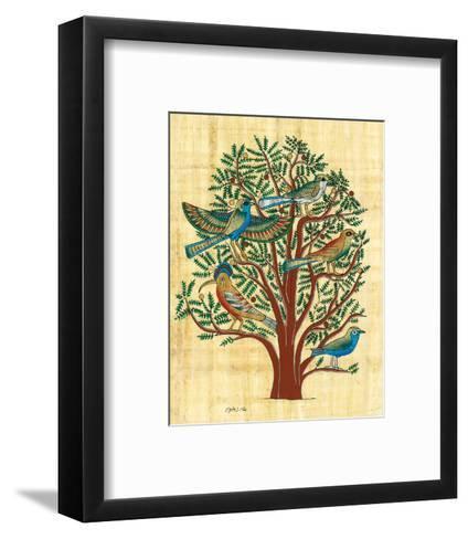 Tree with Sacred Birds--Framed Art Print