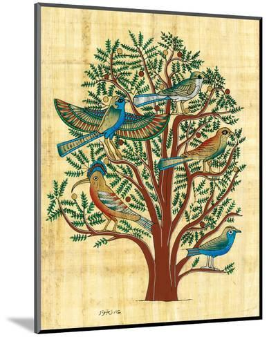 Tree with Sacred Birds--Mounted Art Print