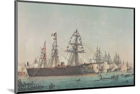Le Ministre de la Marine Passe en Revue l'Escadre d'Évolutions, 1864--Mounted Art Print