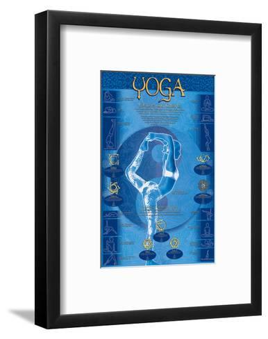 Yoga, Postures and Chakras--Framed Art Print