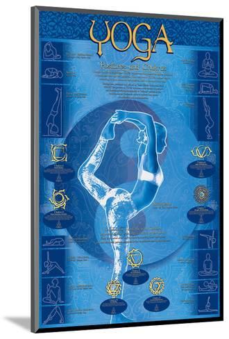 Yoga, Postures and Chakras--Mounted Art Print
