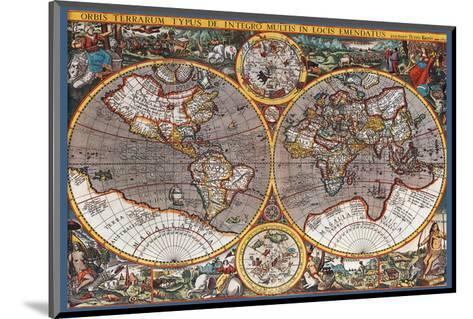 Map of the World II--Mounted Art Print