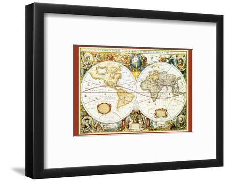 Map of the World III--Framed Art Print