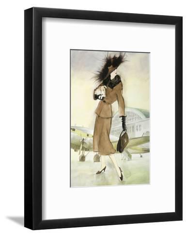 Lady at Airport-Graham Reynold-Framed Art Print