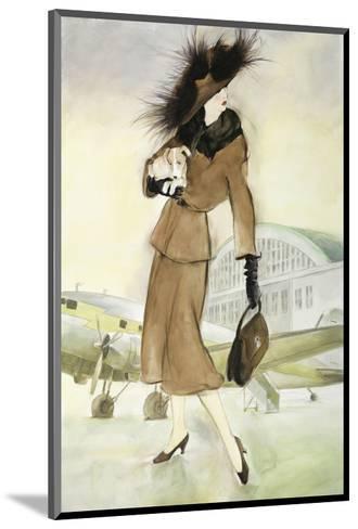 Lady at Airport-Graham Reynold-Mounted Art Print