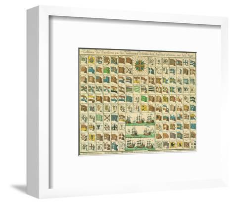 Marine: Correspondance Signals for the Day, c.1712-Mathieu Seutter-Framed Art Print