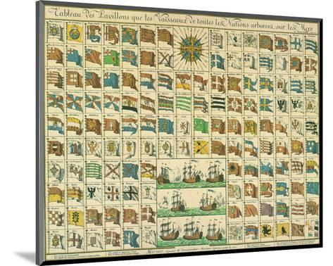 Marine: Correspondance Signals for the Day, c.1712-Mathieu Seutter-Mounted Art Print