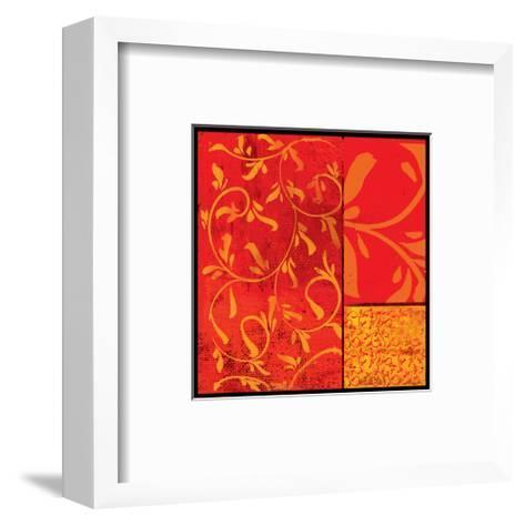 Florence Red Gold-Lillian Pasenar-Framed Art Print